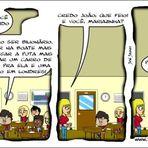 Humor - Tirinha - Mariazinha aproveitando as oportunidades