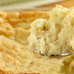 Culinária - Suflê de batata com queijo