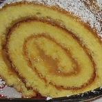 Culinária - Rocambole de doce de leite e limão