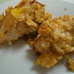 Culinária - Frango craker recheado