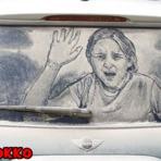Pintura - Arte com 'poeira' nos Carros
