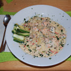 Culinária - Espaguete com Salmao