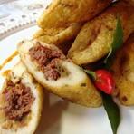 Culinária - Bolinho de Aipim com Carne Seca