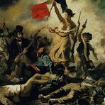 Pintura - A liberdade guiando o povo