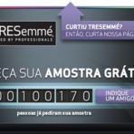 Promoções - TRESemmé - Peça sua amostra grátis!!