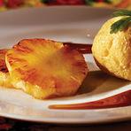 Culinária - Abacaxi grelhado com sorvete