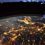 Espaço - Como seria fazer um voo noturno na órbita terrestre