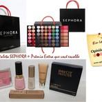Promoções - Sorteio Paleta Sephora + Presente Extra que você escolhe
