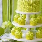 Culinária - Cupcakes e bolo verde limão - As cores da moda, na moda e na culinária