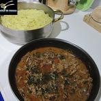 Culinária - Esparguete delicioso com carne estufada
