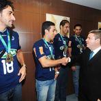 Vôlei - Governador Antonio Anastasia recebe equipe do Sada Cruzeiro.