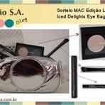 Promoções - Sorteio MAC – Edição Limitada Iced Delights Eye Bag Gold
