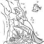 Outros - Desenhos da Pequena Ariel e Companhia Para Imprimir e Colorir