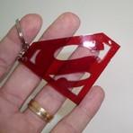 Hobbies - CHAVEIRO ACRILICO - SUPERMAN - VERMELHO