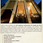 Culinária - Os 100 melhores restaurantes do mundo