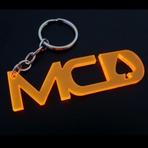 Promoções - CHAVEIRO ACRILICO - MCD - LARANJA UV