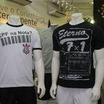 Corinthians lança camisetas para provocar Santos e São Paulo
