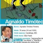 Música - Cantores de brega como eu estão em extinção', diz Agnaldo Timóteo
