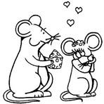 Pintura - Imagens de ratos para imprimir e colorir