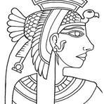 Pintura - Desenhos Egípcios Para Imprimir e Colorir