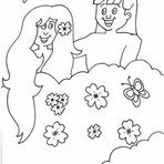 Pintura - Desenhos de Adão e Eva Para Colorir