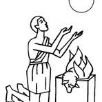Pintura - Caim e Abel - Gênesis Capítulo 4 da Bíblia Para Colorir