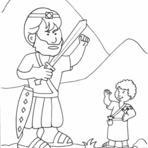 Pintura - Desenhos de David e Golias Para Colorir