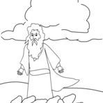 Pintura - Elias Antigo Testamento para colorir