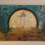 Pintura - Quadro Abstrato Vinda de Cristo
