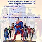 Produtos - Convite Liga da Justiça - Aniversário Infantil