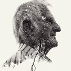 Retratos em múltipla exposição: fotografia a preto e branco de Christoffer Relander