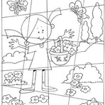 Jogos - desenhos de quebra cabeça para imprimir