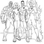 Jogos - desenhos do quarteto fantastico para imprimir