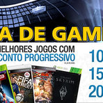 Ofertas - Dia de Games. 24 hs de ofertas especiais para Gamers. Frete a R$ 2,99 para todo o Brasil.