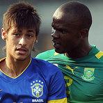 Futebol - Brasil vence África do Sul no sufoco, com vaias para Mano e Neymar