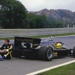 Fórmula 1 - Foto histórica de Ayrton Senna antes da primeira vitória na F1