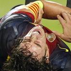 Futebol - Puyol fratura o braço e pode ficar dois meses sem jogar