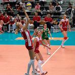 Vôlei - Remate violento no voleibol põe jogadora e espectador em KO