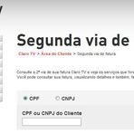 Utilidade Pública - 2º VIA DE CONTA CLARO TV, IMPRIMIR FATURA