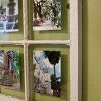 Decoração usando janela velha