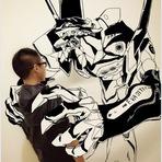 Pintura - Artista japonês cria desenhos 3D impressionantes