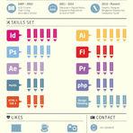 Designer gráfico cria currículo em forma de infográfico