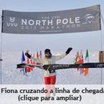 Esportes - Vegana vence a prova feminina da Maratona do Pólo Norte