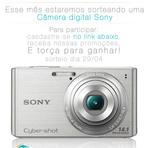 Promoções - Sorteio - Câmera Digital Sony 14 mp