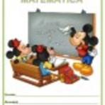 Educação - Modelo de capa de caderno da turma do Mickey