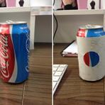 Diversos - Logo subliminar da Pepsi em lata de Coca-Cola faz sucesso na internet