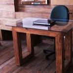 Arquitetura e decoração - Mesas de Escritório Rústicas em Madeira de Demolição