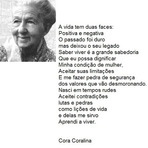 Estilo de Vida - Cora Coralina - O que é viver bem?