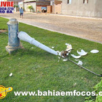 Violência - SALOBRO: Mais uma luminária do Jardim da Aurelina dos Santos foi destruida...