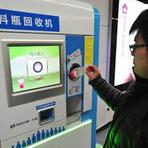 Meio ambiente - Garrafas PET valem passe livre no metrô de Pequim